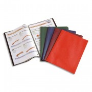 Protège-documents 100 vues noir Hunter, couv. en PVC 34/100e, pochettes en polypropylène 6/100e - Elba