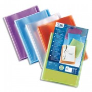 Protège documents personnalisable Transparence Perso 200 vues, 100 pochettes. Coloris assortis - Elba