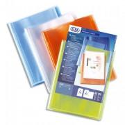 Protège documents personnalisable Transparence Perso 40 vues, 20 pochettes. Coloris assortis - Elba