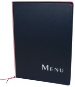 Protège menu avec 2 intercalaires - Dimensions  : 26 x 1,5 x 35 cm