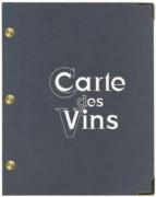 Protège menu carte vins - Vendue à l'unité - Gris - 18.5 x 23.5 cm