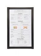 Protège menu magnétique - Format A4 - Dimensions : 33,3x 22 x 0,7 cm