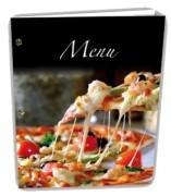 Protège menu pizzeria - Dimensions : 25 x 0,5 x 31,5 cm