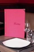 Protège menu pour restaurant - Dimensions : 24 x 31.5 cm