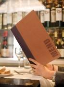 Protège menu professionnel A5 - Coloris : Noir - Bordeaux - Bleu - Marron clair - Vert