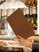 Protège-menu restaurant - Format : A4 ou A5 - Coloris : Noir - Bordeaux - Marron