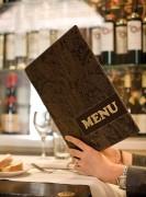 Protège-menus luxueux A4 - Avec double insert amovible