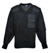 Pull de travail col V Portwest - 100% acrylique - Couleur noir ou marine
