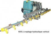 Pulvérisateur porté - Effacement manuel – Repliage hydraulique vertical