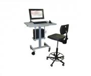Pupitre d'atelier ergonomique - Plan de travail monté sur vérins