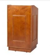 Pupitre de conférence en bois - Dimensions (L x l x H) : 650 x 600 x 1190 mm