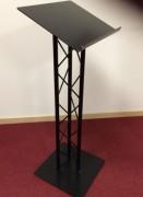 Pupitre de conférence en aluminium laqué noir mat - Pupitre pour salle de conférence diamètre tube 25,4 mm