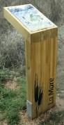 Pupitre en bois lamellé-collé - Pin traité - Hauteur 900 mm - Section 80 x 400 mm