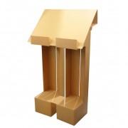 Pupitre en carton - Monté : 127.00 x 70.00 x 35.50 cm