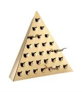 Pyramide de dégustation 28 cuillères dorée à l'or fin - 400546