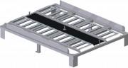 Quai pour stockage palettes charge utile 7 tonnes - Capacité : palette 96''x 125'