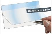 Rabat adhésif précollé - Transparent - Talon adhésif de 6 mm