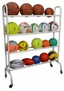Rack à ballons - Capacité : 16 ballons - Dimension : 135 x 20 x 105 cm