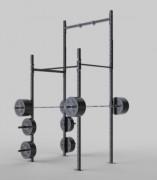 Rack de musculation squat 2 barres de traction - Hauteur du poste squat : 3,9 mètres