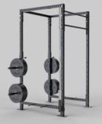 Rack de musculation squat à barre fixe - Rack squat personnalisable pour exercices gymniques