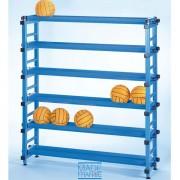 Rack de rangement fixe à ballons pour piscine