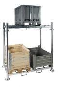 Rack double de rangement industriel - Charge par niveau : 2000 kg
