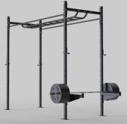 Rack gymnastique avec parcours obstacles - Finition thermolaquée, acier épaisseur 4 mm