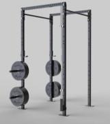 Rack squat polyvalent pour gym et renforcement musculaire - Supports barre olympique pour exercices à la barre/squat