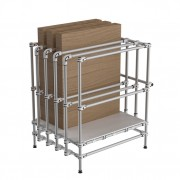 Rack stockage plaques - Dimensions (HxLxPr) : 1300 x 1200 x 1200 mm