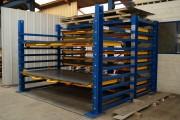 Rack stockage tôles - Charge admissible par tiroir : 2 tonnes