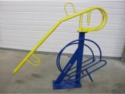 Rack vélo double hauteur - Pour 3 vélos