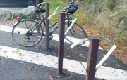 Rack vélo en plastique recyclé - Capacité : 1 à 4 vélos