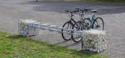 Rack vélo gabion - Rack vélo et banc