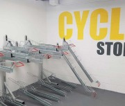Rack vélos à double étage - Optimise l'offre de stationnement vélo