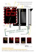 Radar pédagogique photovoltaïque - Type RP2 -Dimensions l x h(mm) :650 x 500 - 900 x 700 - 1150x900