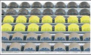Rail à galets en plastique - Diamètre galets (mm) : 28