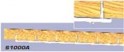 Rail d'agrès à grimper - Avec ferrures de fixation sous poutre bois horizontale