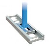 Rail métallique pour poteaux de saut à la perche - Dimensions : (L x l x H) 1.4 m x 0.355 m x 100 mm