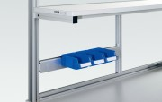 Rail porte bacs aluminium - 2 Longueurs disponibles :  685 et 985 mm