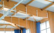Rail pour corde à grimper - Acier galvanisé plastifié - Longueur : 6 m
