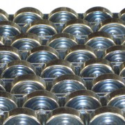 Rails à galets en acier - Capacité unitaire (Kg) : 30  -  Matière : Acier zingué