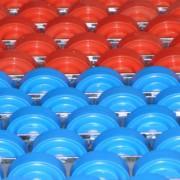 Rails à galets en plastique - Capacité unitaire (Kg) : 8