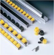 Rails à galets pas de 16 à 100 mm - Pas disponibles (mm) : de 16 à 100