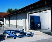 Rails de guidage pour conteneur - Rails de guidage pour compacteur à vis