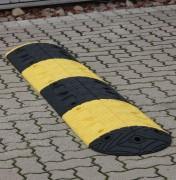 Ralentisseur de vitesse en caoutchouc - Hauteur : 50 mm - Coloris, Jaune et Noir
