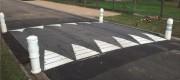 Ralentisseurs Zebra large caoutchouc - Conforme aux recommandations du CEREMA