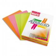Ramette 125 feuilles papier couleur ADAGIO 80g A4 - 125 feuilles coloris ADAGIO 80g A4 assortis fluo