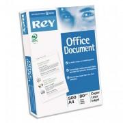 Ramette papier blanc Rey perforées 4 trous 80g A4. - 500 feuilles papier blanc Rey office document perforées 4 trous A4.