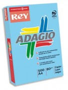 Ramette papier couleur ADAGIO+ 80 g A4 bleu vif - 500 feuilles couleur bleue ADAGIO+ 80g A4