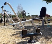 Rameur fitness d'extérieur - Composition : Acier galvanisé